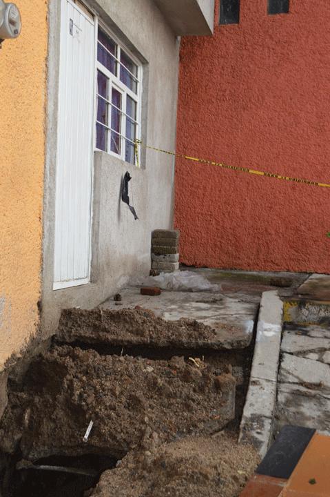 Otra de las casas afectadas en Ciudad de Los Niños, Naucalpan