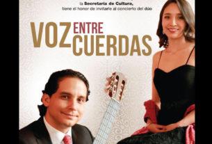 """Cautivarán al público del Centro Cultural """"Casa del Risco"""", Javier Hernández, guitarrista, y Jeorgina Tavira, soprano."""