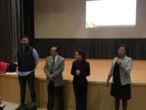 Marisol Muciño, jefa de la jurisdicción y Armando Salcedo, subdirector de Verificación de COPRISEM y Patricio González en la inauguración del curso