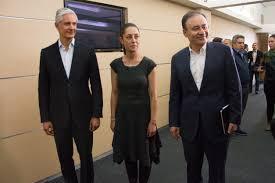 Alfredo Del Mazo, Claudia Sheinbaum y Alfonso Durazo