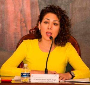 La presidenta municipal, Denisse Ugalde Alegría