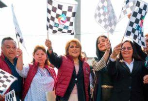 """La Presidenta Municipal Ruth Olvera Nieto dio banderazo de salida a camiones vactor que participan en el """"Programa de Limpieza y Desazolve Municipal 2019""""."""