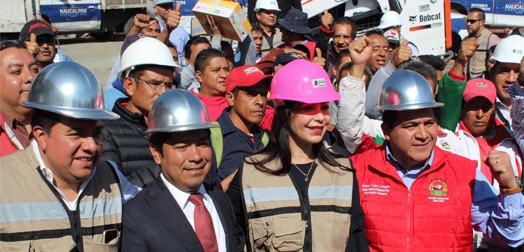 Arranca en Naucalpan el programa de Bacheo, la alcaldesa Patricia Durán dio el banderazo de salida a las cuadrillas