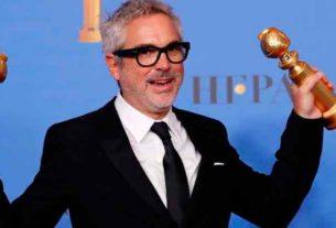 """Alfonso Cuarón ganó dos Globos de Oro con su película """"Roma"""""""
