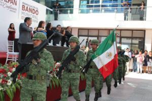 El Batallón de Transmisiones Militares en la Promulgación de la Constitución en Naucalpan