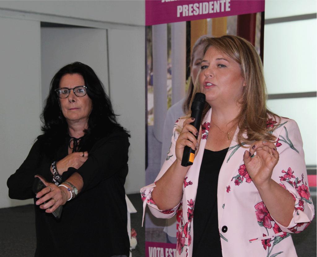 Lourdes Molina y Yazmín Priego ante más de 200 personas presentan su Planilla COPACI y Fórmula Delegación 2 en Satélite
