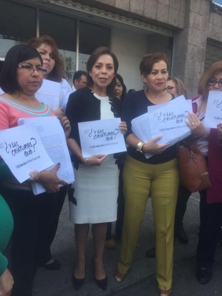 La senadora madres de familia y maestras de guarderías que solicitaron 58 amparos