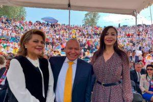 Los alcaldes Ruth Olvera Nieto, Raciel Pérez Cruz y patricia Durán Reveles