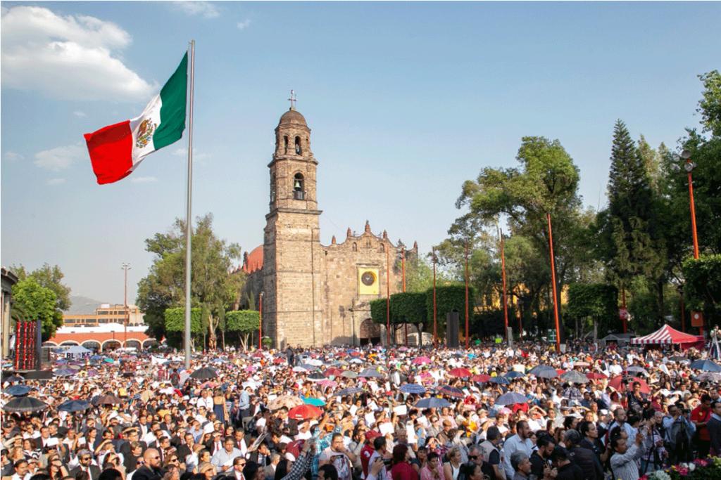 Cerca de 7 mil personas estuvieron en el acto de los 100 días de gobierno del alcalde de Tlalnepantla Raciel Pérez Cruz