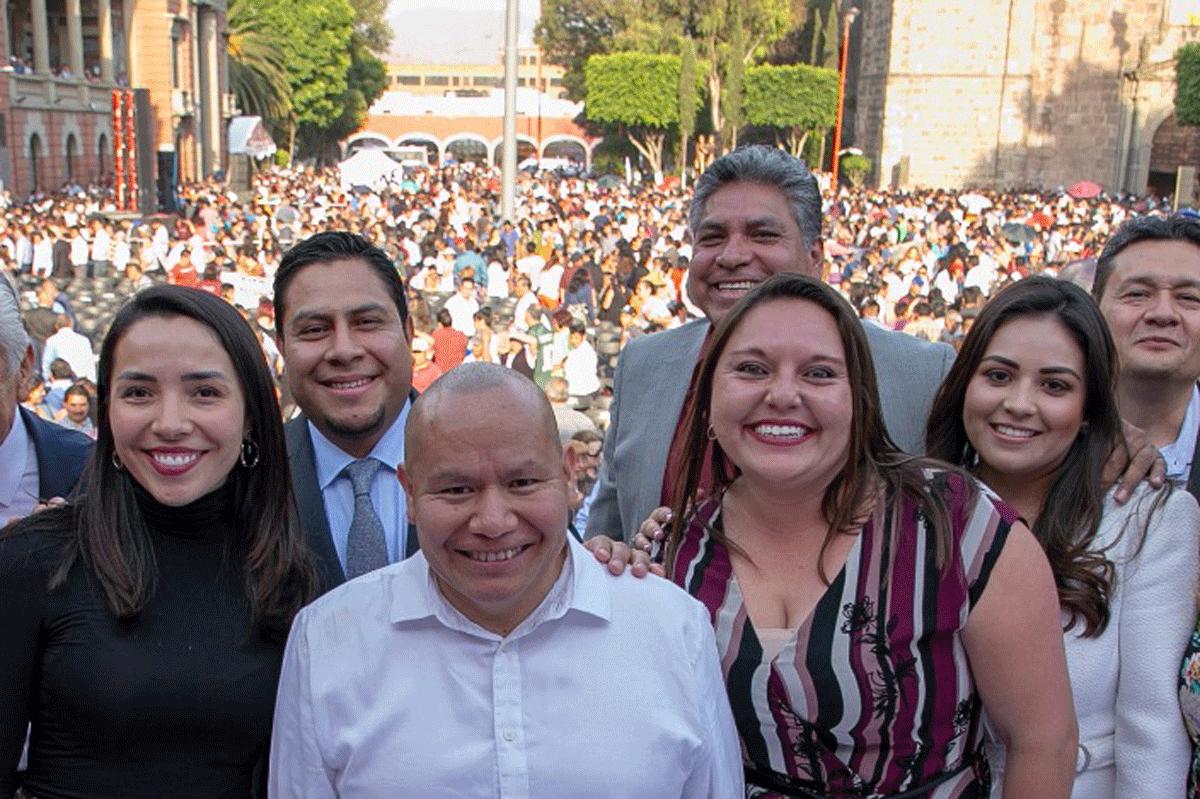 El alcalde de Tlalnepantla, Raciel Pérez Cruz, apoyado por síndicos y regidores llega a los 100 días de gobierno