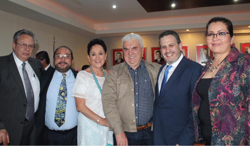 Ángel Prado García, Claudia Pericharth y Joaquín Vivanco