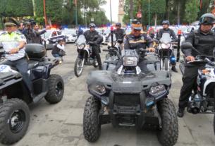Patrullas, cuatrimotos, motocicletas y plataformas de estrategia policial, entre los vehículos arrendados por el Ayuntamiento de Tlalnepantla