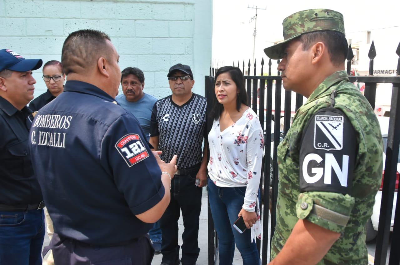 Elementos de Protección Civil de Cuautitlán Izcalli y Ejército revisan las condiciones de seguridad de las colonias ante la temporada de lluvias