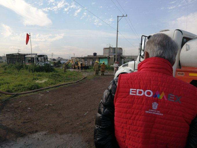 Elementos de Protección Civil y Ejército desalojaron a los habitantes de un ejido de Tezoyuca para evitar desgracias ppor fuga de gas