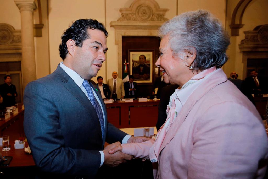El alcalde Enrique Vargas del Villar y la Secretaria de Gobernación Olga  Sánchez Cordero