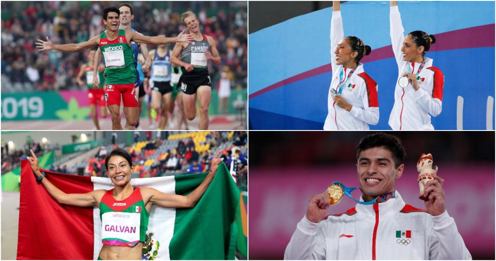 Los corredores de 1,500 y 5 mil metros, las nadadores de sincronizado y clavadistas llegan cargados de oro de los juegos Panamericanos