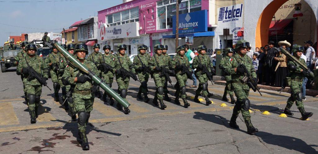 El 7 Batallón del Ejército Mexicano, presente en el Desfile de Almoloya de Juárez