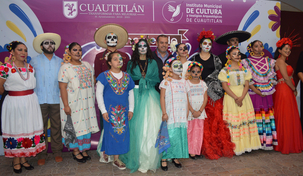Entre catrines y catrinas, Ariel Juárez, alcalde Cuautitlán, donde maquillarán para caracterizarlos