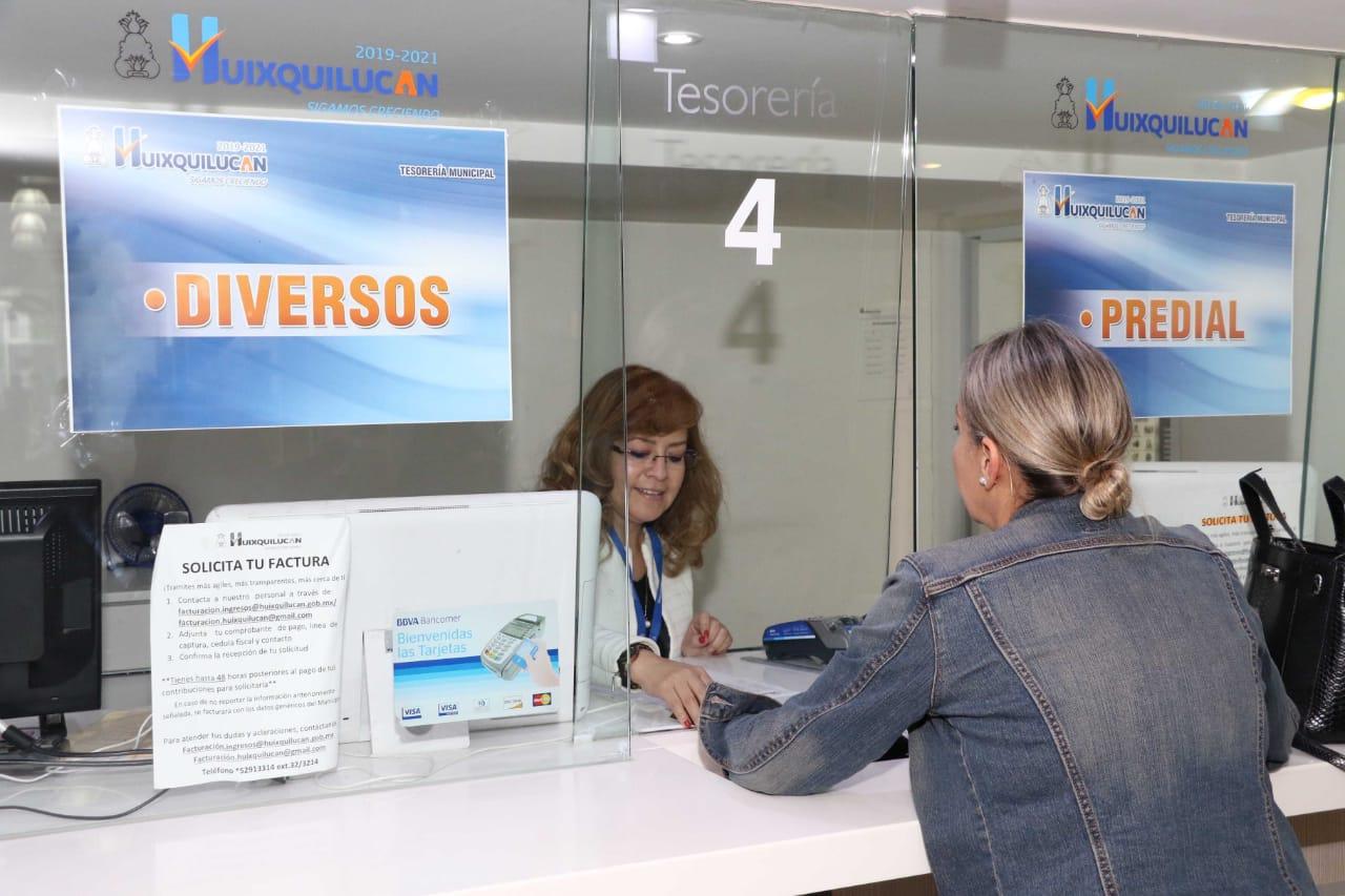 Máxima eficiencia en recaudación del impuesto predial registró el Ayuntamiento de Huixquilucan