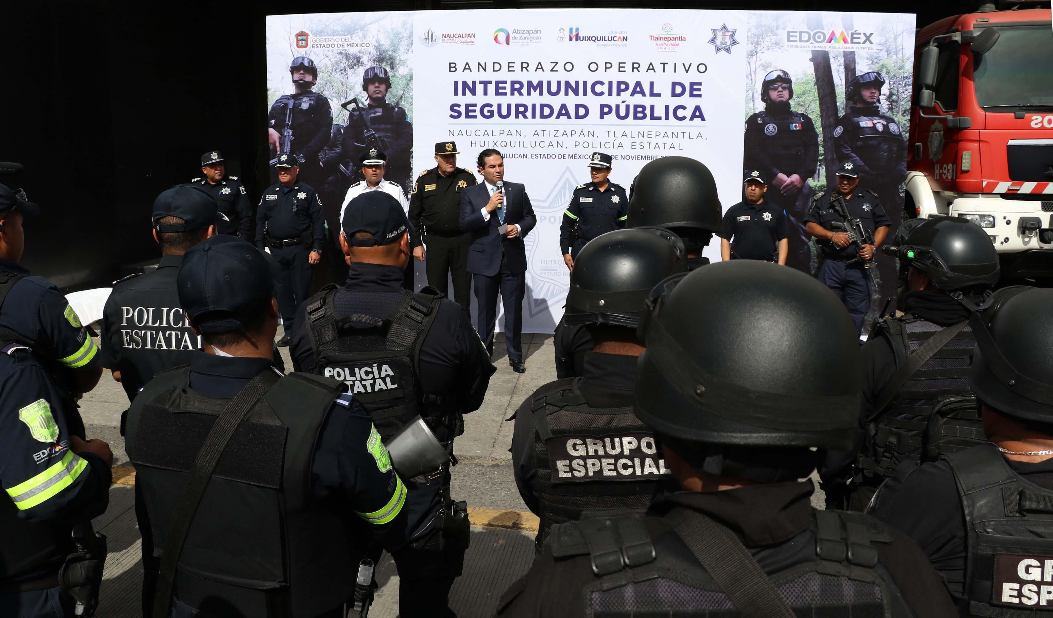 Policias de Huixquilucan, Naucalpan, Tlalnepantla y Atizapán inician programa intermunicipal de seguridad apoyados por la policía estatal y Guardia Nacional
