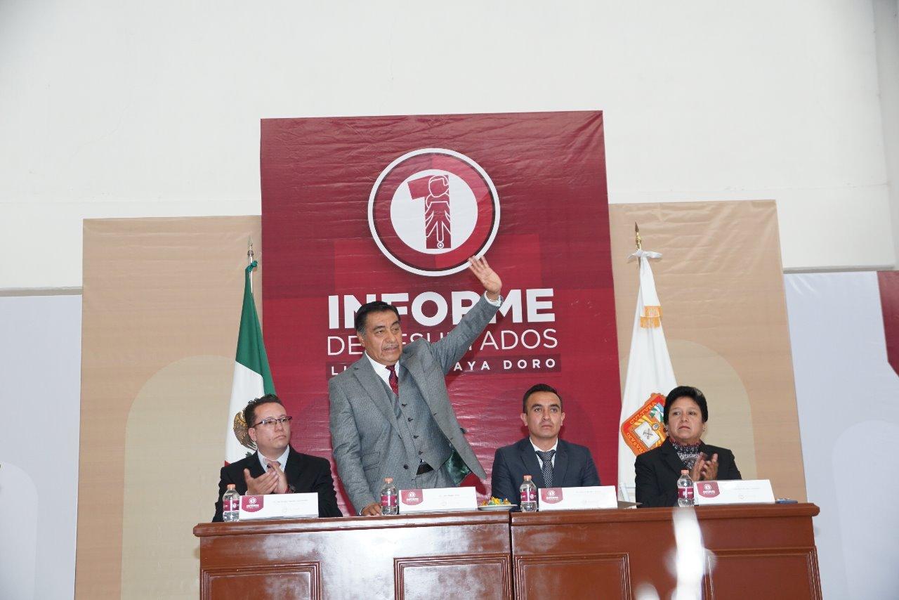 Vendrán más obras, dijo Luis Maya Doro al terminar su Primer Informe de Gobierno como presidente municipal de Almoloya de Juárez