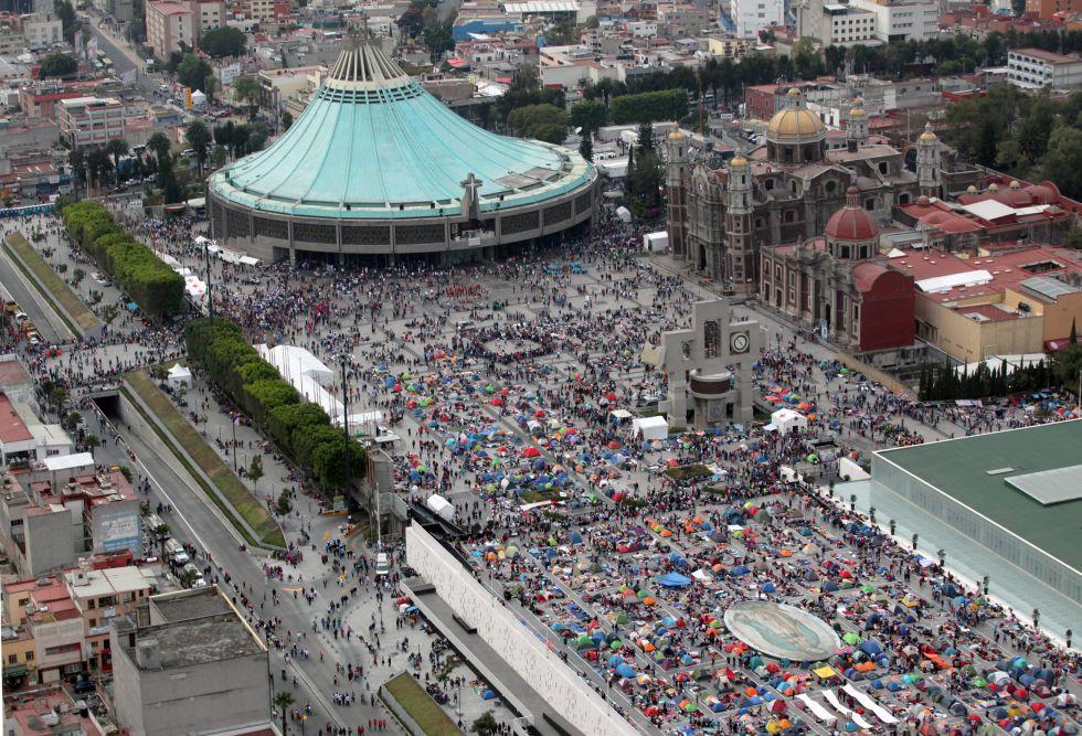Totalmente abarrotada luce la Basílica de Guadalupe