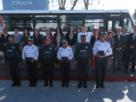 Policías y agentes de Tránsito de Naucalpan reciben cámaras, chalecos y el camión DARE para evitar que niños consuman drogas en Naucalpan