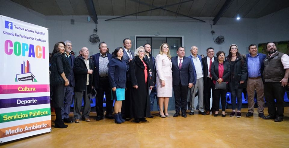 La presidenta de COPACI Satélite, Jazmín Priego Ruiz da informe de gobierno con su directiva
