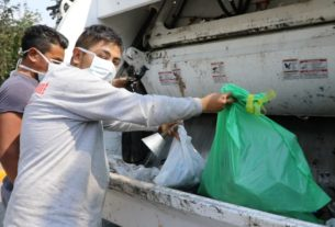 Separan basura para proteger trabajadores de limpia