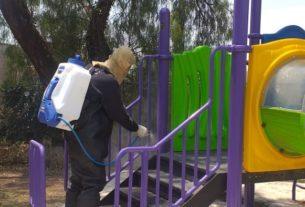 PC Tlalnepantla sanitiza parques, calles de hospitales y fraccionamientos