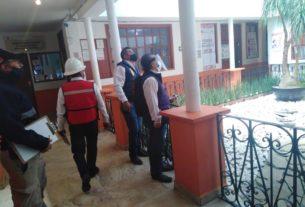 Protección Civil del Estado de México revisa palacio municipal del Almoloya