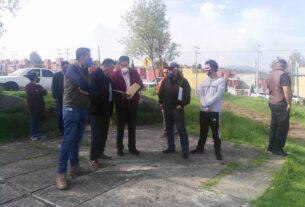 El alcalde de Almoloya de Juárez, Luis Maya Doro, recorre comunidades para anunciar obras y recoger propuestas