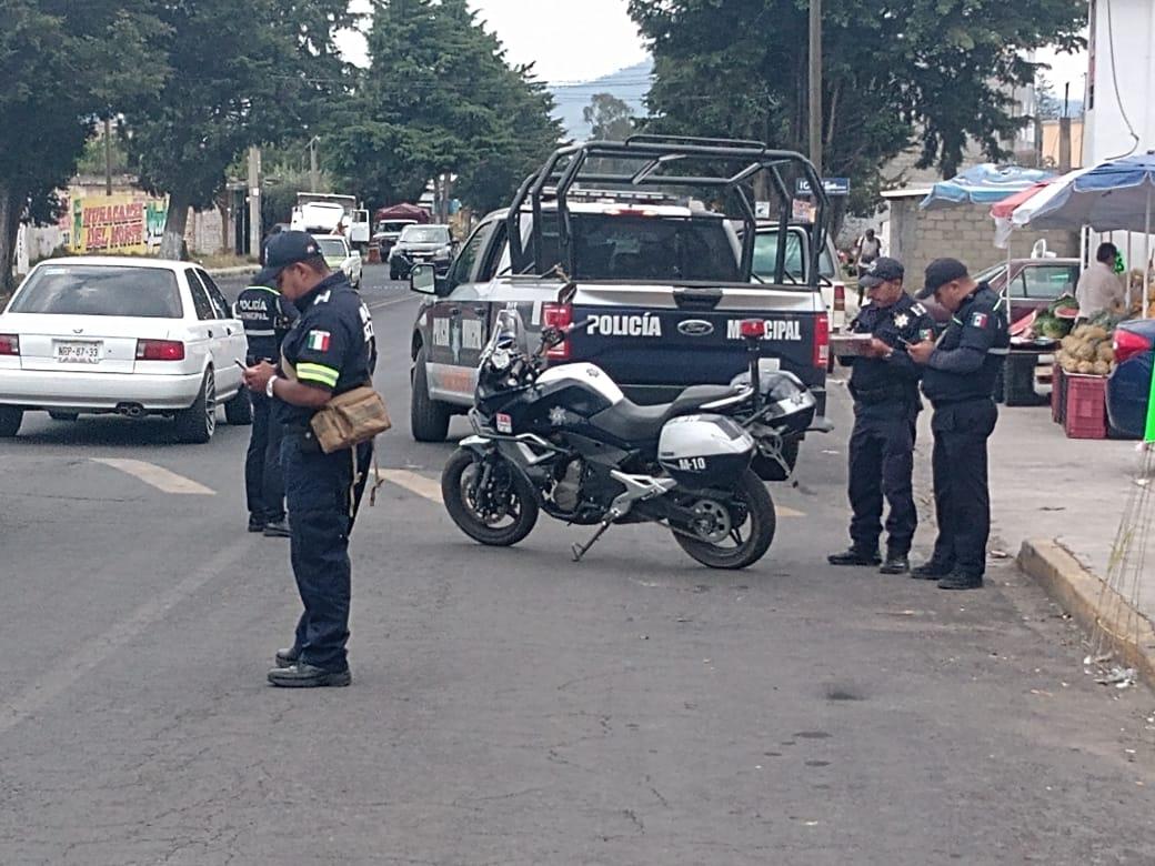 Despliegue policiaco para evitar delitos en Almoloya de Juárez