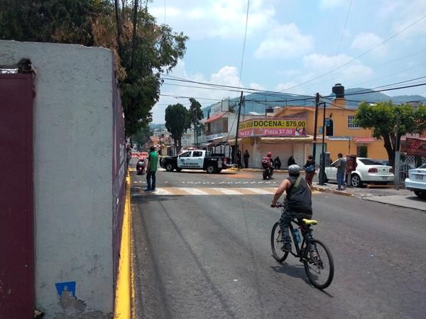Desplazamiento policiaco contra civiles en Atizapán