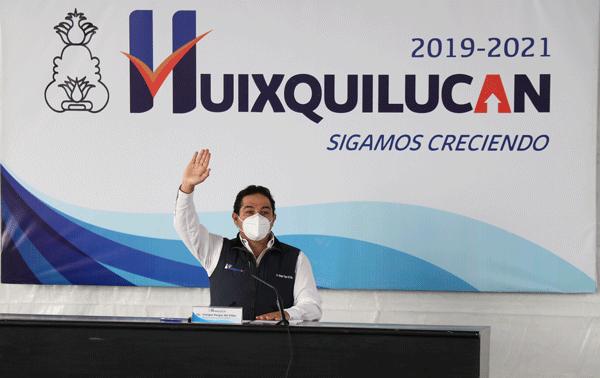 Mantienen en Huixquilucan obras y personal a pesas de contar con menos recursos