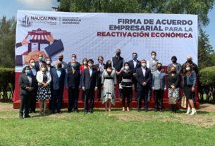 El Ayuntamiento de Naucalpan, encabezado por Patricia Durán firma apoyo con empresarios para retorno seguro