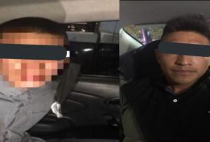 Dos asaltantes, uno menor de edad, fueron detenidos por policías de Tlalnepantla