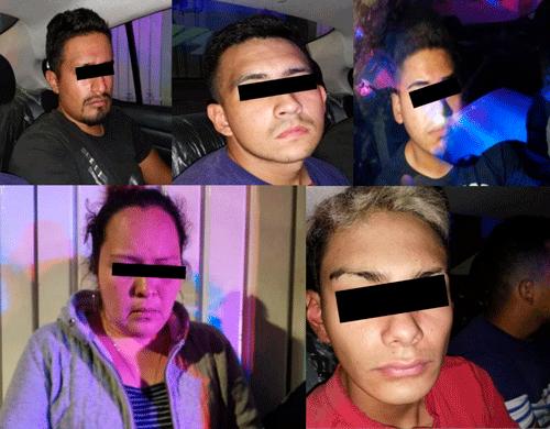Tres hombres y una mujer en banda que asaltaba transporte de carga en Tlalnepantla