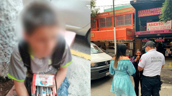 Protegen a niño golpeado en Tlalnepantla