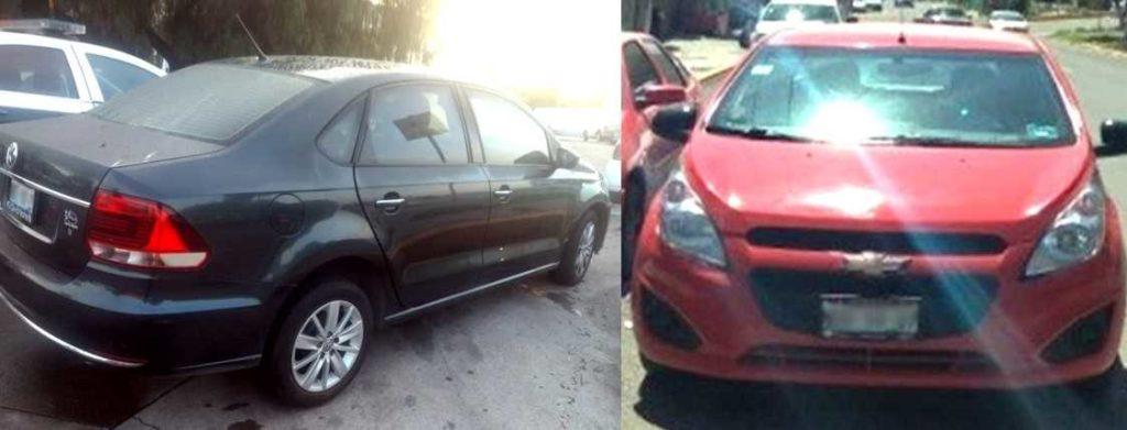 Los autos Spark y Vento, también recuperados