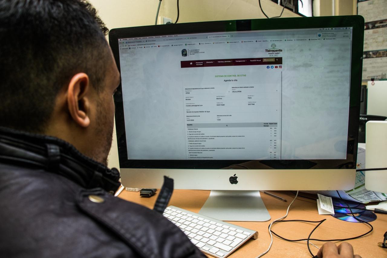 Facilitan trámites en Tlalnepantla con citas por internet