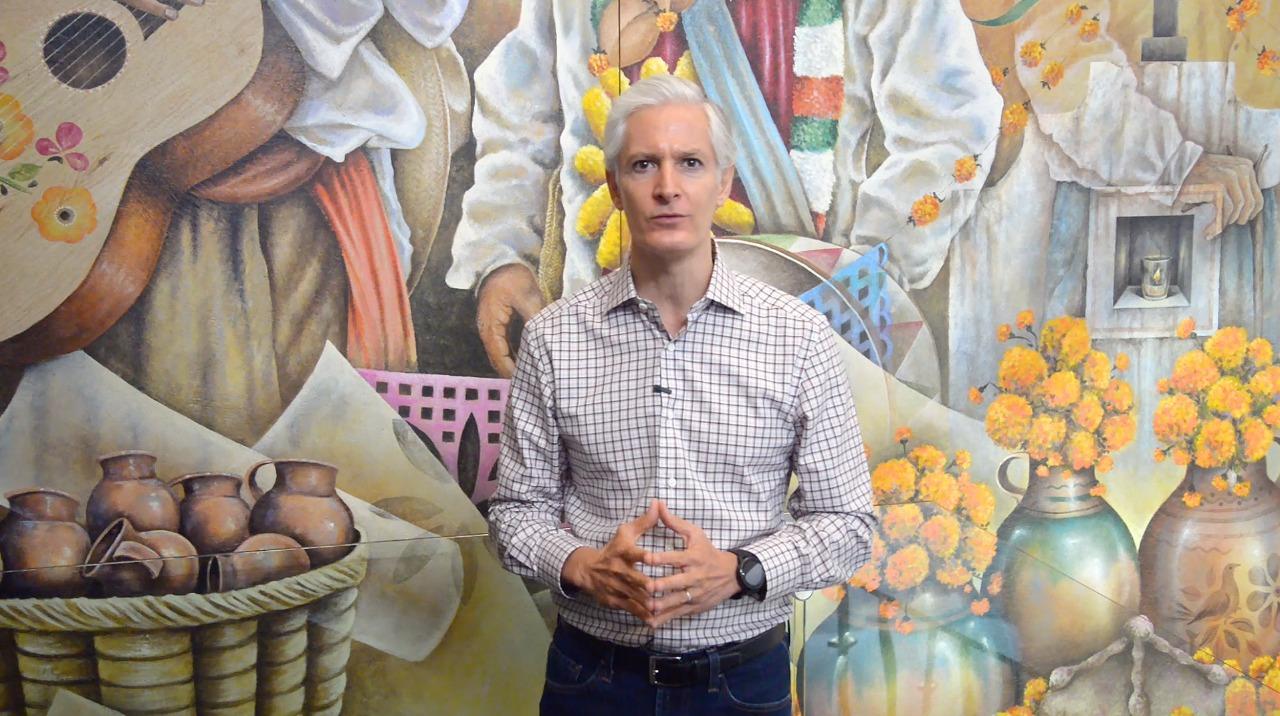 Alfredo del Mazo anuncia Semáforo Naranja con el interés de que retorne la actividad económica, cuidando la salud