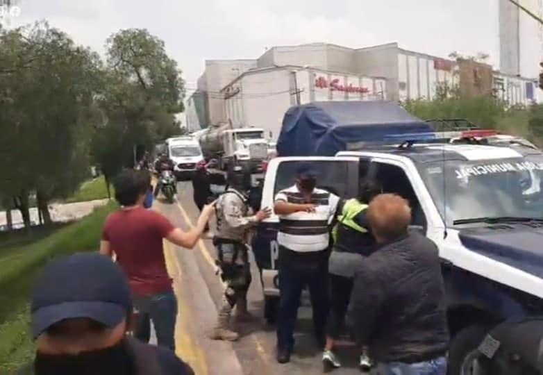 Detención de dirigentes de la manifestación contra autoridades de Cuautitlán Izcalli