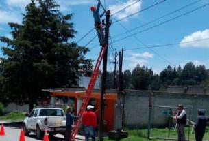 Rehabilitan calles, alumbrado público y movilidad en Almoloya de Juárez