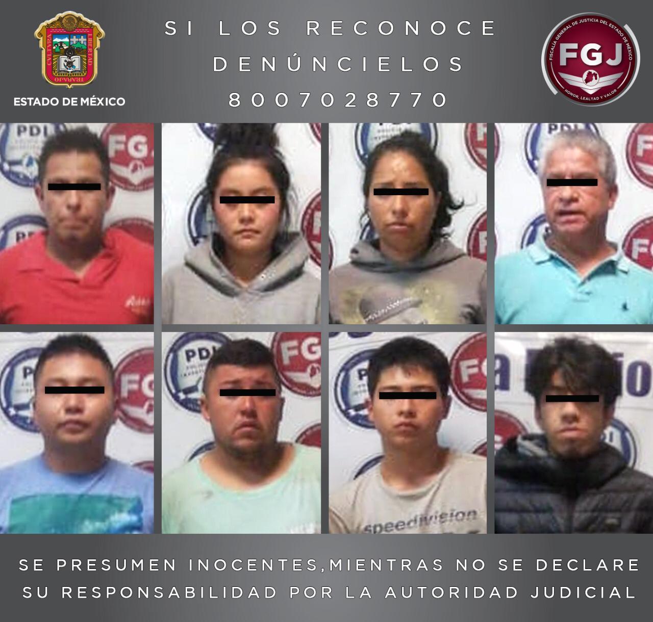 Los detenidos con drogas en Naucalpan