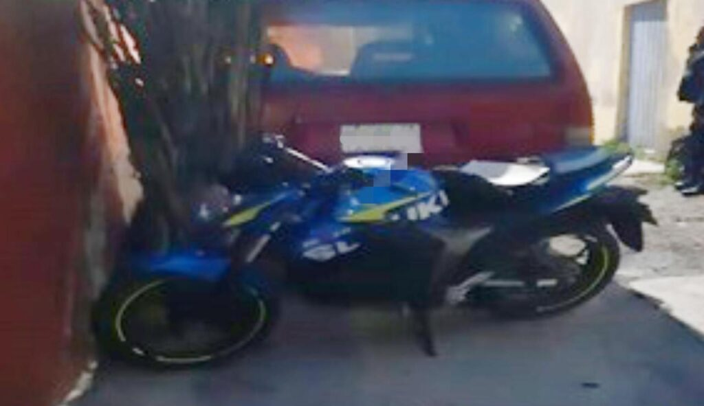 Motocicleta con reporte de robo