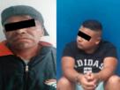 Los dos detenidos que usaron armas para asaltar en Tlalnepantla