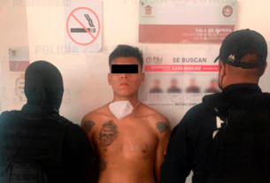 Asaltante detenido en Tlalnepantla