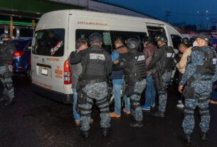 Policías de Atizapán de Zaragoza evitan asaltos en el transporte