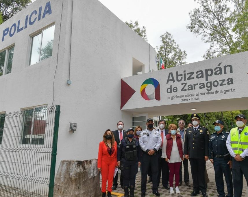 Módulos, equipo y uniformes motiva a la policía de Atizapán a seguir luchando por la sociedad